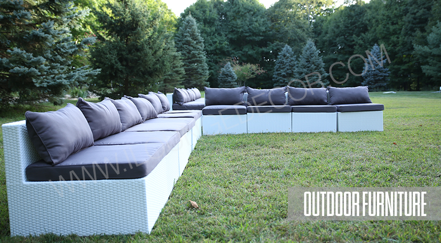 White Wicker Outdoor Furniture Rentals - Outdoor Furniture Rentals Of Nj